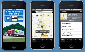 Smartphones are one way drivers could learn about available truck parking spaces.