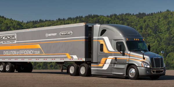 Cascadia Evolution achieved 9.31 mpg on a  2,400-mile cross country trip on real Interstate...