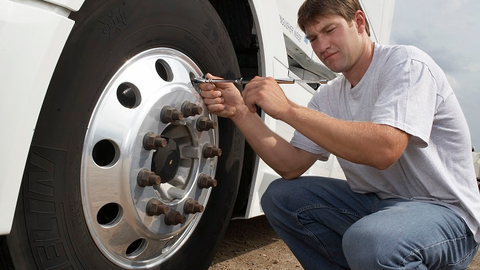 Drivers should perform weekly pressure checks on a truck they are familiar with. Daily checks...