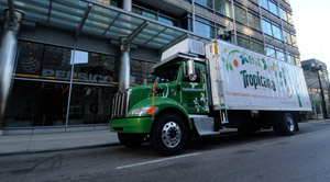 With the new hybrids, Tropicana expects to achieve an additional 35 percent improvement in fuel economy over its diesel-powered trucks.
