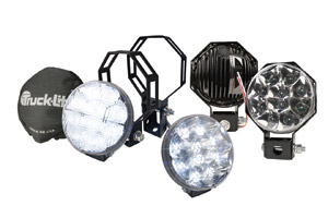 Much like the LED Headlamp, the spot and work series creates a white light, closer to the color temperature of daylight.
