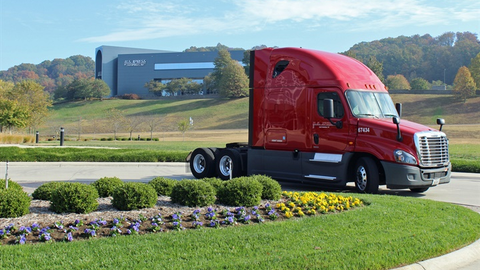 "Out of 7,000 U.S. Xpress tractors running on the road today, only 16 ""legacy"" units are still..."