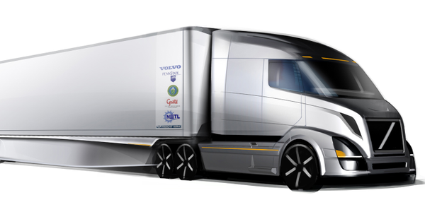 This is what a tractor-trailer could look like following the work being done through the...