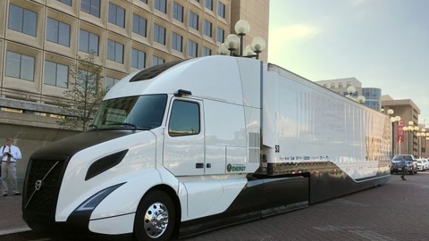 Volvo Trucks North America's SuperTruck project boasts a freight efficiency improvement of 88%,...