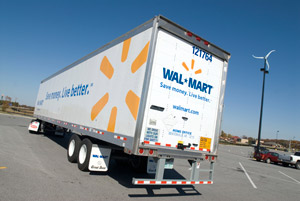 Since 2005, Walmart has managed to improve fleet efficiency by 60 percent.