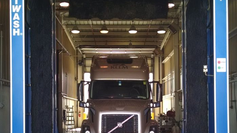 Thanks to automation advances, modern drive-through truck washes can clean and wax a vehicle in...