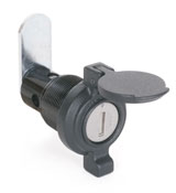 Illinois Lock Company's weather-resistant wing locks have built-in flip-up cap to provide protection from the elements.