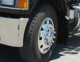 Tires such as Bridgestone's M843 provide a balance of good traction, good fuel economy and good tread life when used as an all-position tire.