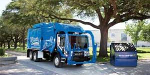 The natural-gas-powered Mack TerraPro, equipped with a Cummins Westport ISL-G natural gas...