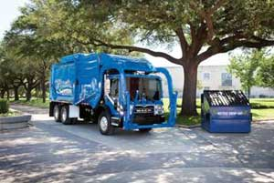 The natural-gas-powered Mack TerraPro, equipped with a Cummins Westport ISL-G natural gas engine, meets EPA 2010 and CARB emissions levels.