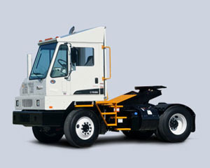 Compared to a comparably equipped diesel-powered terminal tractor, the gasoline-powered version takes less time to reach top speeds and has higher maximum speeds in both third and fourth gears.