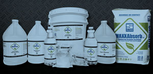 The first two products being introduced are MaxxClean super-concentrate all-purpose cleaner and MaxxAbsorb floor cleaner and general absorbent. Both product lines are certified eco-friendly.