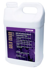 Conklin's Gold Guard Plus - SAE 50 transmission fluid is capable of extended drain intervals up to 500,000 miles.