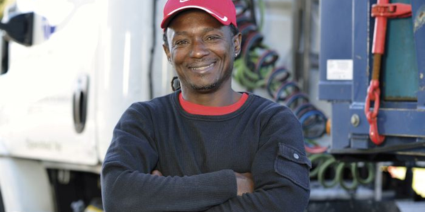Carlus Patterson is a former veteran who now drives a dedicated route for Ryder.