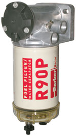 Above, Racor's new 700 Series fuel filter/water separator.