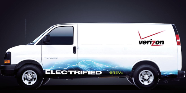 Verizon has tested alternative-fueled vehicles like this one but says there are many other ways...