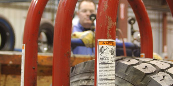 The one tool every tire shop needs is a tire inflation cage. It's designed to absorb the blast...
