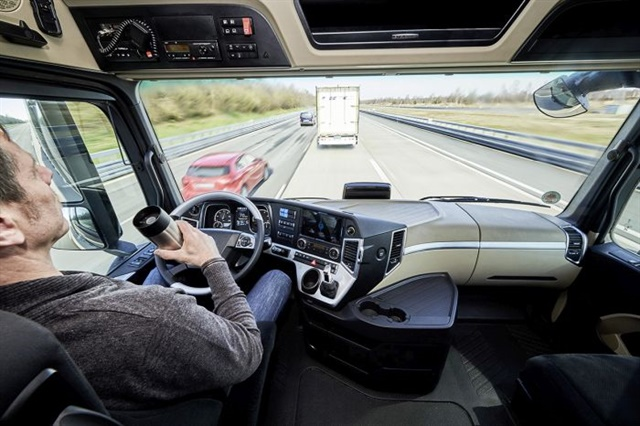 Daimler merged its Highway Pilot autonomous vehicle technology with a test of truck platoons in Europe last year. Photo: Daimler
