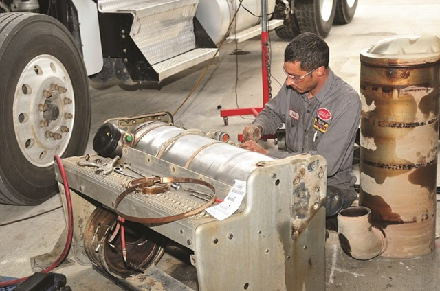 A truck driver may not know when to address a DPF regen warning, which can costs fleets days of downtime if it requires advanced service. Photo: Jim Park
