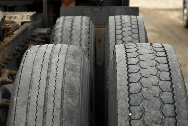 Mismatched tires are not an offence, but they will catch an inspector's eye and prompt a closer look. Photo: Jim Park