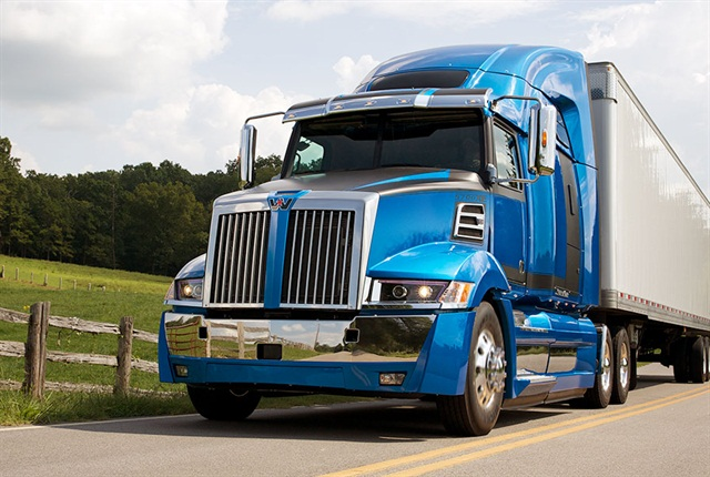 The new 5700XE has an 'edgy' look that's still aerodynamic, Platt says. Photo: Western Star