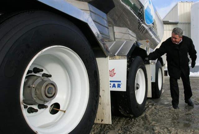 Your tires will tell the tale if they're improperly balanced. Signs include chunking and scalloping created as the tire vibrates or hops while rolling down the road.Photo: Rush Truck Centers