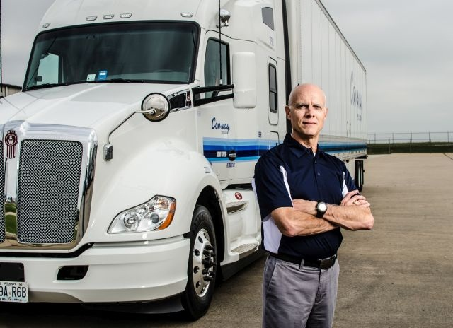 Albert Johnson, Con-way Truckload's vice preisent of human resources, works from the company's Joplin, Mo., headquarters:Photo by Drew Kimble, 12 Eighty-One Photography.