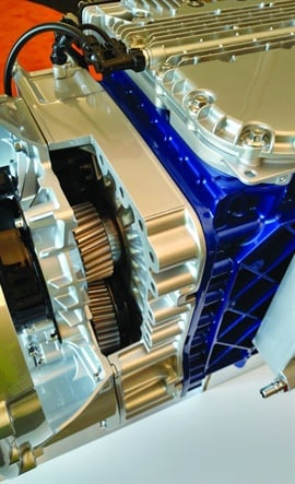The gearbox added onto the front of an I-Shift adds one or two crawler gears.