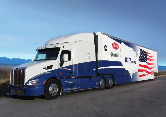 When the U.S. Department of Energy in 2010 first announced its SuperTruck funding for the development and demonstration of advanced technologies to improve the efficiency of long-haul Class 8 trucks, the 10.7 mpg achieved by the Cummins/Peterbilt SuperTruck was almost unheard of.Photo: Peterbilt