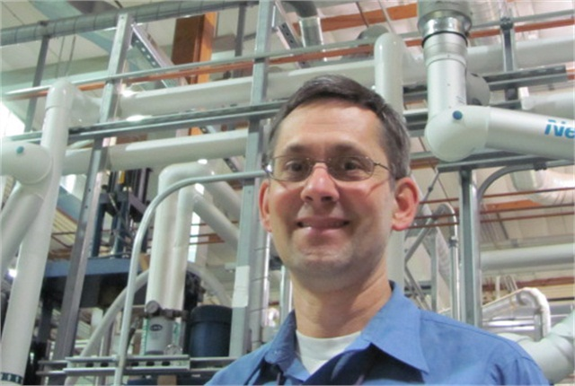 Kriston Brooks at the Applied Process Engineering Laboratory.
