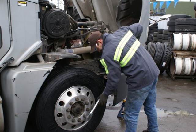 Alert your technicians to ongoing tests by labeling the tires and the trucks involved in the test so they know there will be some special handling requirements. Photo: Michelin