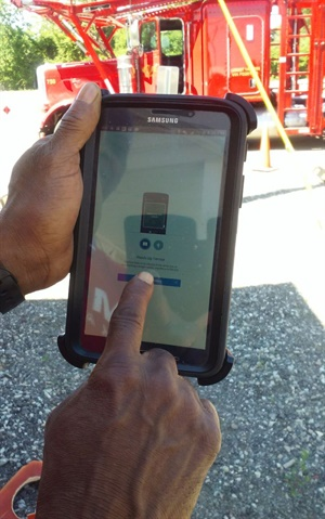 The Drivewyze PreClear weigh station bypass app works on mobile devices the fleet already was using to run delivery applications.