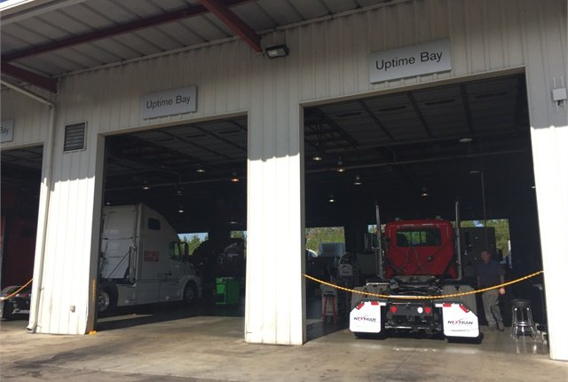 Dedicated uptime bays at Nextran are a key part of the Certified Uptime Center program. Photo: Deborah Lockridge