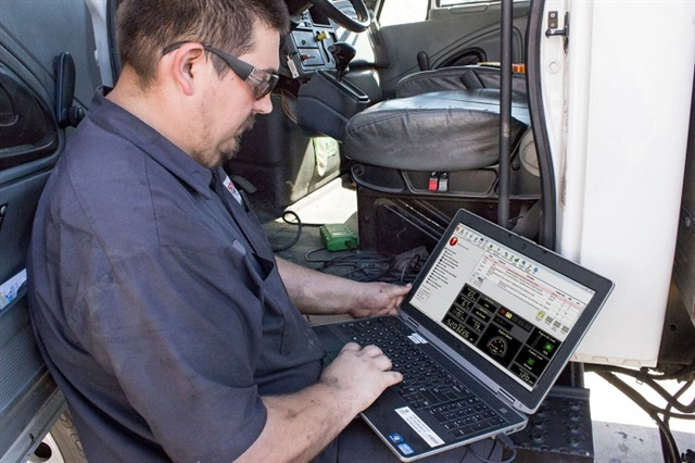 Telematics systems can give fleets warnings of pending failures. But diagnostic devices are still required for deep data mining off vehicle CAN bus units. Photo: TMW Systems