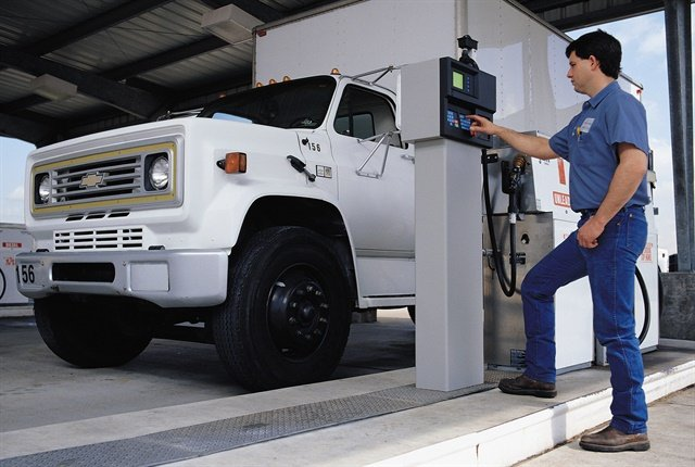Cardlock systems help fleet administrators manage their fuel assets by making it easier to authorize and provide accountability for fuel usage. Photo courtesy OPW