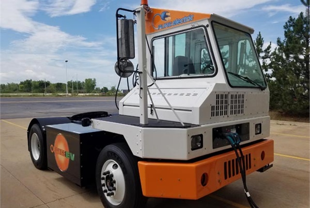 "A policy of ""opportunity charging"" that has drivers putting trucks on charging devices during lunch, breaks and other downtimes is a key component in keeping the trucks' state of charge high for longer periods of time. Photo: Orange EV"
