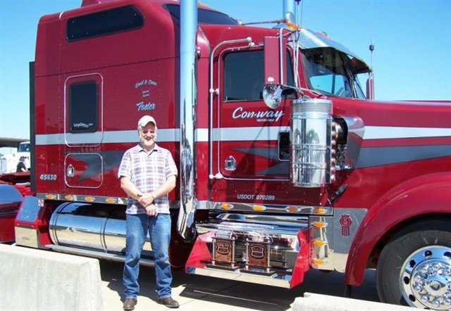 Some owner-operators, like Con-way Truckload's David Foster, like to compete in truck beauty contests.Photo: Con-way Truckload