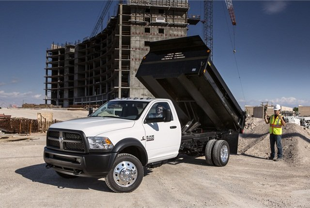 Ram:Ram chassis-cabs, available in 3500, 4500 and 5500 series, and the Ram 3500 HD pickup, cover Classes 3, 4 and 5 for Chrysler Group. They use two-door regular and four-door crew cabs from popular Ram pickups, and currently come with several ratings of the Cummins Turbo Diesel mated to an Aisin 6-speed automatic or a Mercedes 6-speed manual (the only manual still offered in these weight classes). 2014 models will be available with a 6.4-liter Hemi gasoline V-8.