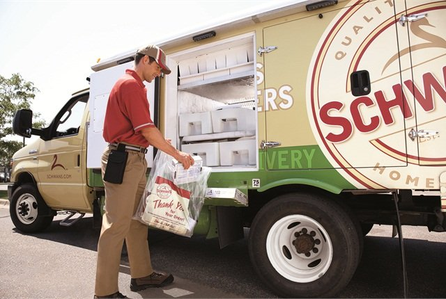 Schwan's Ford E-450s are among the many that run on propane, which the company has used since the 1970s.