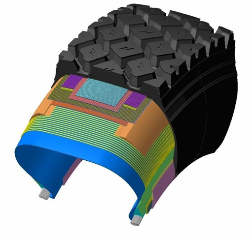 Belt design optimizes tread rigidity, which improves contact pressure and wear performance.