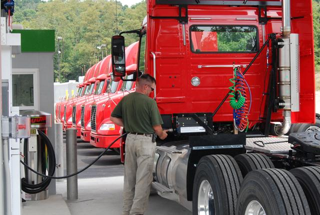 Some private fleets, such as Talon Logistics, the private fleet of Giant Eagle, are using alternative fuels such as natural gas.