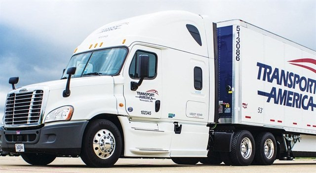 Transport America integrates severe weather alerts from ALK Maps with its internal alerting system to better manage its fleet during weather events. Photo via Transport America