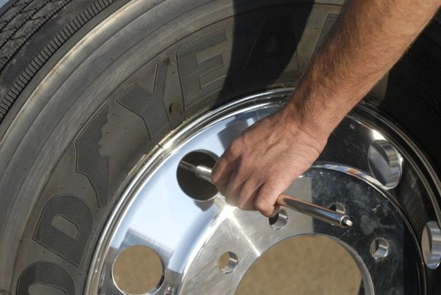 Establishing a daily inspection and pressure check program is an excellent way to spot problems before they get out of hand. Photo: Goodyear