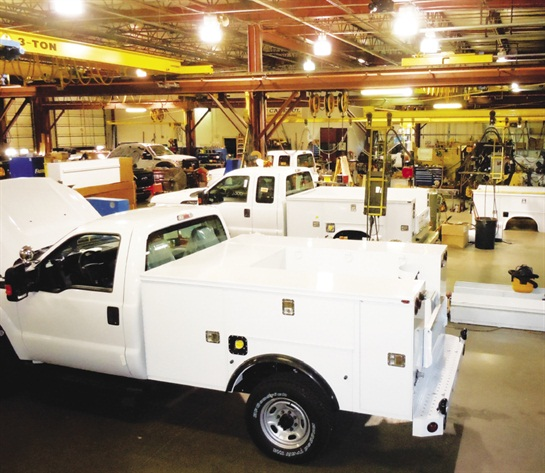 Reading builds and installs steel and aluminum service bodies in its plant in eastern Pennsylvania.