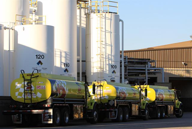Every year Safety-Kleen collects about 200 million gallons of drain oil, which is hauled to refineries in Indiana and Ontario.