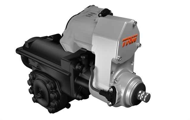 The ReAx electric drive is fully integrated into the body of the power steering gear.