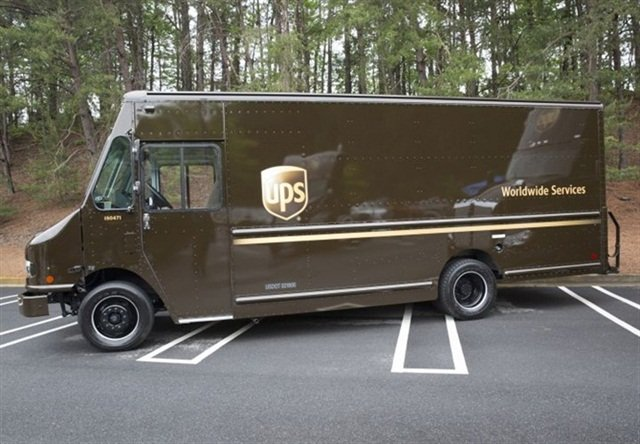 The new Workhorse walk-in van is a 16,000- to 19,500-pound GVWR hybrid-electric delivery vehicle. It features a choice of wheelbases from 157 to 208 inches and includes the truckmaker's new narrow-track W-88 chassis with E-GEN drivetrain. Photo: UPS