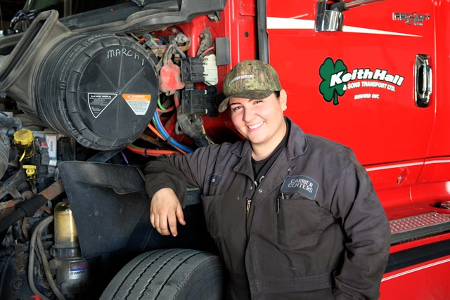 Vania Agostinh, apprentice mechanic at Carrier Centres.