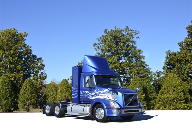 Volvo:The VNL-300 Blue Power daycab with Cummins Westport ISL G or ISX12 G natural gas engines will be joined in 2015 by Volvos using Cummins' ISX15 G and Volvo dual-fuel D13. Otherwise, the VNL-670 with a 61-inch sleeper compartment is the builder's best-selling model. Longer and shorter sleepers are available in VNL (long hood) and VNM (medium hood) series.
