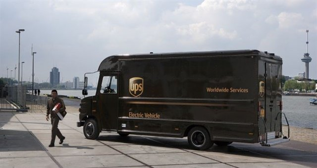 UPS already has more than 100 all-electric vehicles deployed in California, and more in Europe. Photo: UPS